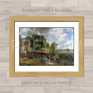 John Constable framed print: The Hay Wain. 400mm x 325mm. Textured canvas paper.
