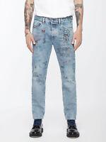 Diesel Herren Cropped Slim Fit Vintage Röhren Jeans Hose - Mharky 0076K - *RAR*