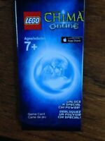 LEGO Legends of Chima Online Game Card - Unlock a Special Chi Power. Free S&H!