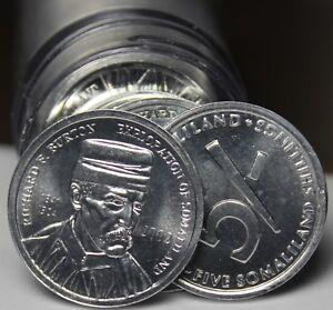 Gem UNC Rouleau (40) Somaliland 5 Shillings, 2002 ~ Richard Burton Explorer