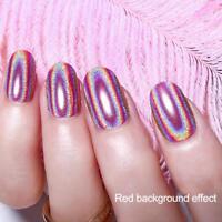 Holographic Chameleon Mirror Nail Powder Chrome Pigment Glitter Dust Colorful