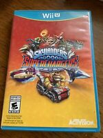 Skylanders Super chargers  Nintendo Wii U Physical Disc TESTED CIB COMPLETE FAST