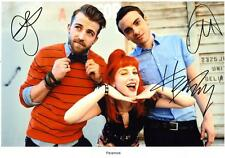 PARAMORE AUTOGRAPHED SIGNED A4 PP POSTER PHOTO