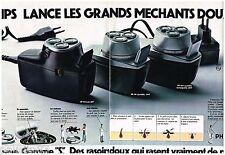 PUBLICITE ADVERTISING 095  1973  PHiLIPS   les rasoirs PHILISHAVE gamme S ( 2p)