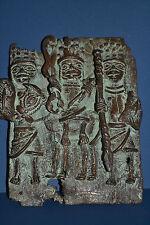 African Benin Tribal Bronze Plaque Cast in Traditional Lost Wax Method,c 1950