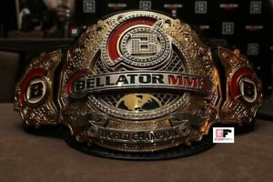 Bellator MMA World Heavyweight Championship Leather Belt 4MM zinc  Plates