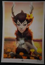 Deer Princess Stanley Artgerm Lau Signed Art Print