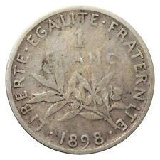 FRANCE FRANKREICH 1 FRANC SILVER KM 844 1898