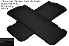 BLACK STITCH 2X SUN VISORS LEATHER COVERS FITS MERCEDES W108 STACKLIGHT 65-72