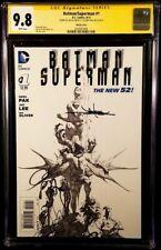BATMAN SUPERMAN #1 CGC SS 9.8 GREG PAK JAE LEE 1:100 JOKER CATWOMAN HARLEY QUINN