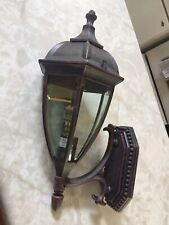Coleman Out Door Wall Lamp Lantern Rust Proof 60 W 18.5 Height Beveled Glass