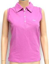 Fila Ladies Sleeveless Polo T-Shirt - Pink UK 10 / Small, Golf-Sports Wear BNWT