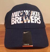 designer fashion ed32c 484f2 Milwaukee Brewers Nike MLB Baseball Legacy 91 Cap Hat Dri Fit Med Large