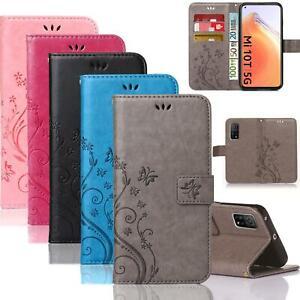 Handy Tasche Xiaomi Schutz Hülle Blumen Flip Cover Book Case Wallet Etui Schale