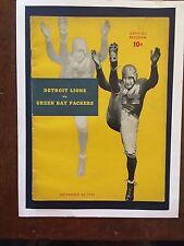 """1940 Green Bay vs Detroit NFL football program/BYRON """"WHIZZER""""! WHITE ON COVER!!"""