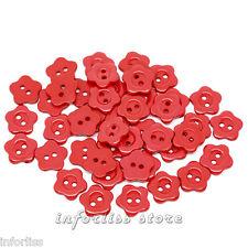 20 Botones con forma de flor roja