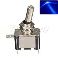 Blue 12V 20A Auto Car Boat Dot LED SPST Toggle Rocker Switch Control ON/OFF NEW