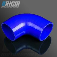"""BLUE 3"""" To 3"""" 90 Degree TURBO INTERCOOLER SILICONE Elbow Hose Pipe 3PLY"""