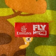 CHILDS EMIRATES FLY WITH ME LIGHTWEIGHT TRAVEL BLANKET W/ANIMALS