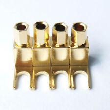 4x Spade Banana plug Copper Mcintosh #V Amp Eico tube Adapter Gold plate New