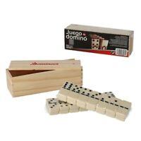 Juego de domino clasico con 28 fichas de resina y caja de madera dominó 5.3x2.7