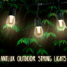 48FT LED Outdoor Patio String Lights - 15Pcs 1.5W Dimmable Vintage Edison Bulbs