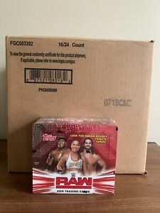 WWE Wrestling Topps 2019 RAW Trading Card RETAIL Box 24 Packs From SEALED CASE