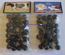 2 BAGS OF HERSHEY'S MILK CHOCOLATE /  HERSHEY KISSES ADVERTISING PROMO MARBLES