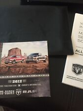 2012 Dodge Ram French owners manual 1500-2500 Dvd-case FREE SHIP