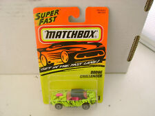 1995 MATCHBOX SUPERFAST #1 LIME/YELLOW DODGE CHALLENGER NEW ON CARD