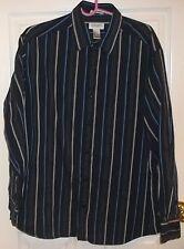 Mens Concepts by CLAIBORNE~BLUE Striped DRESS SHIRT~size XL~NEW Classic Fit