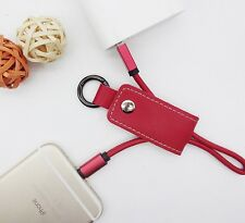Leather Iphone & Android Keychain Phone Chargers
