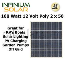 100w (2 x 50 watt) infinium 12v solarmodule rv boat off grid akku ladegerät a +