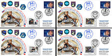 "4 FDC Kazakhstan-France ""Proxima Soyuz MS-03 Back on Earth Thomas Pesquet"" 2017"
