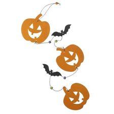 Wooden Pumpkin Halloween Hanging Garland Decoration – Party Wall Door Décor