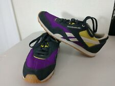 Reebok Classic GREY/PURPLE/YELLOW Suede Retro Athletic Shoes women's size: 9