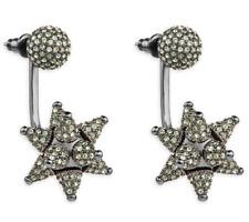 NIB$299 Atelier Swarovski Kalix Pierced Earring Jackets Gunmetal plating 5298569