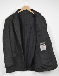 HARRIS TWEED Men's (EU) 58 or ~XXL Grey Formal Wool Blazer 36628_GS