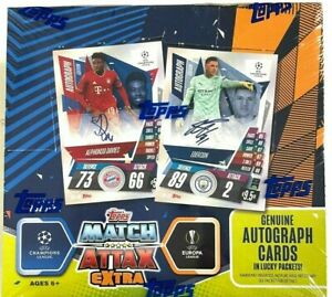 2020-21 TOPPS MATCH ATTAX EXTRA UEFA CHAMPIONS & EUROPA LEAGUE BOOSTER BOX