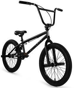 "Elite 20"" BMX Stealth Bicycle Freestyle Bike 1 Piece Crank Black NEW 2020"