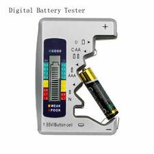 Digital Battery Checker Battery Capacity Tester For C/D/9V/AA/AAA/1.5V New UK