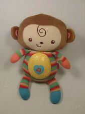 "Fisher Price Snugamonkey Sweater Knit Stripes Musical Baby Lights Works 11"""
