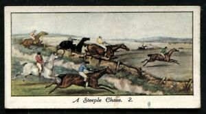 Tobacco Card, Mitchell, OLD SPORTING PRINTS, 1930, Steeple Chase 2, #24