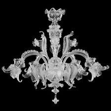 Lampadario a sospensione in vetro di Murano tutto trasparente Personalizzabile