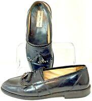 Louis Dell'Olio Loafer Men's 9.5 D Black Tassel Kiltie Slip On Dress Shoes Italy