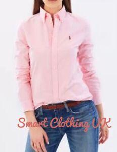 Ralph Lauren Women's Slim Fit Oxford Shirt  (Pink)    RRP £109