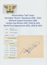 JEFF LLOYD HARRINGAY RACERS SPEEDWAY 1950-1954 RARE ORIGINAL AUTOGRAPH BOOK PAGE
