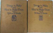 William w. klenke Vintage books THINGS TO MAKE & HOW TO MAKE THEM VOLUME 1 & 2