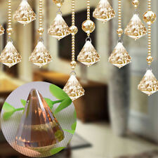 Clear Champagne Glass Faceted Prism Pendant Chandelier Crystal Lamp Accessory