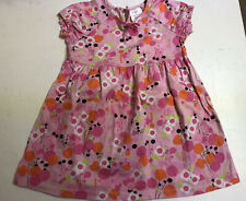 Hanna Andersson Girls Pink Floral Print Short Sleeve Dress Size 100 (4-5)